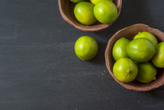 Fresh limes on the table Royalty Free Stock Image