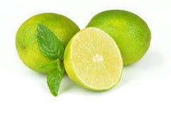 Fresh limes  on white background Stock Photo