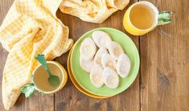 Fresh limonaie with powdered sugar Royalty Free Stock Photo
