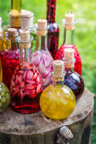 Fresh liqueur with alcohol and fruits Royalty Free Stock Photos