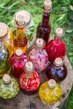 Fresh liqueur with fruits and alcohol Royalty Free Stock Images
