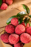 Fresh litchi Stock Photos