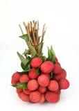 Fresh of litchi fruit. On white background Stock Photos