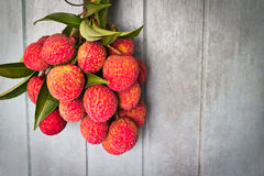 Fresh of litchi fruit Stock Photo