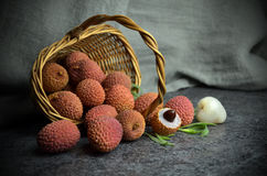 Fresh litchi fruits Royalty Free Stock Photography