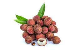 Fresh litchi fruits Royalty Free Stock Images