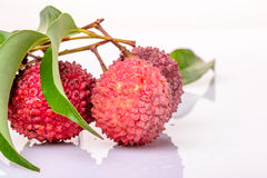 Fresh litchi Royalty Free Stock Photos