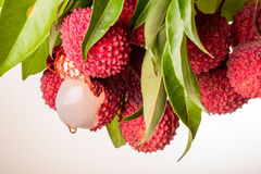 Fresh litchi Stock Photo