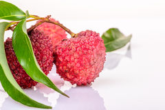 Fresh litchi Stock Image