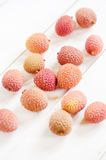Fresh litchis Royalty Free Stock Image