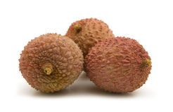 Fresh litchis Stock Photos
