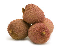 Fresh litchis Stock Photography
