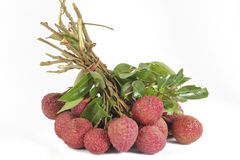 Fresh litchis. Royalty Free Stock Images