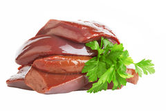 Fresh  liver Royalty Free Stock Images