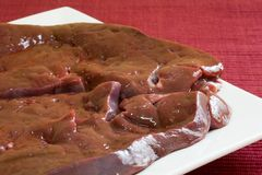 Fresh liver Stock Images