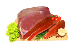 Fresh liver Stock Photos