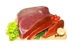 Fresh liver Stock Photos