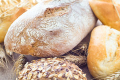 Fresh loaf bread rolls Stock Photos