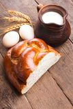 Fresh loaf of challah Stock Photography