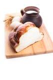 Fresh loaf of challah Stock Image