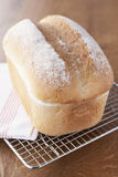 Fresh Loaf Cooling On Wire Rack Royalty Free Stock Photography