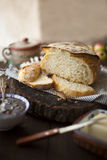 Fresh Loaf of No-Knead Bread Royalty Free Stock Images