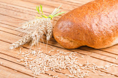 Fresh loaf with wheat grains Stock Image