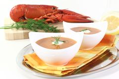 Fresh lobster bisque Royalty Free Stock Images