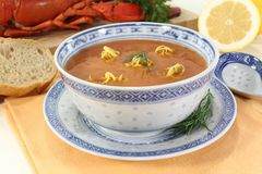 Fresh Lobster Bisque Asian Royalty Free Stock Photo