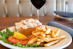 Fresh Lobster Roll Sandwich Royalty Free Stock Photo