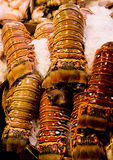 Fresh Lobster Tails on Ice Royalty Free Stock Image
