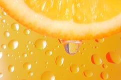 Fresh lobule of orange Royalty Free Stock Images