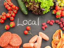 Fresh local barbecue ingredients Stock Image