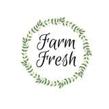 Fresh and local, fresh harvest frame Stock Image