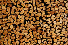 Fresh logs. A pile of lfresh logs for fire royalty free stock photo