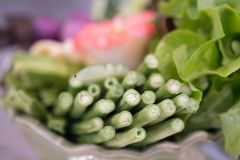 Fresh long bean. Side dishes of Thai traditional food stock images