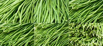 Fresh long beans background. The fresh long beans background Royalty Free Stock Photography
