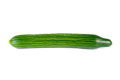 Fresh long cucumber. Over a white background Royalty Free Stock Image