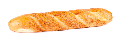 Fresh long loaf Royalty Free Stock Images