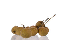 Fresh longan on the background. White stock images