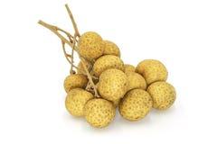Fresh longan (dimocarpus longan). Isolated on white background Royalty Free Stock Image