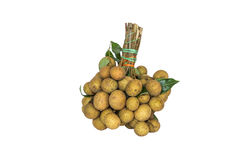 Fresh longan fruits Stock Image