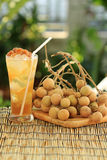 Fresh longan juice Stock Images