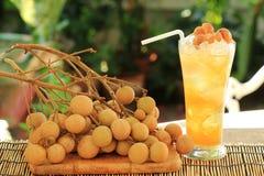 Fresh longan juice Royalty Free Stock Photo