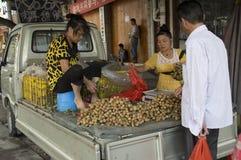 Fresh longan selling Royalty Free Stock Photos