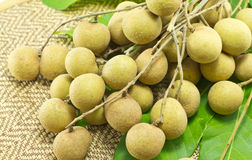 Fresh longan ,Tropical fruits Stock Photo