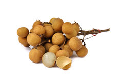 Fresh longan on white Stock Images