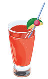 Fresh longdrink. Fresh long-drink with straw and lime Royalty Free Stock Images