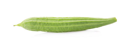 Fresh loofah on the white background Stock Photography