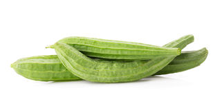 Fresh loofah on the white background Royalty Free Stock Photography
